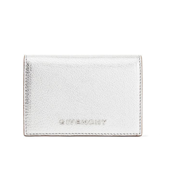Pandora Small Metallic Textured-Leather Wallet