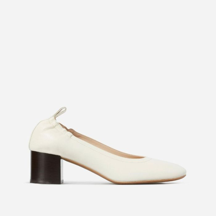 Women's Pump Heel by Everlane in Bone Stacked, Size 11