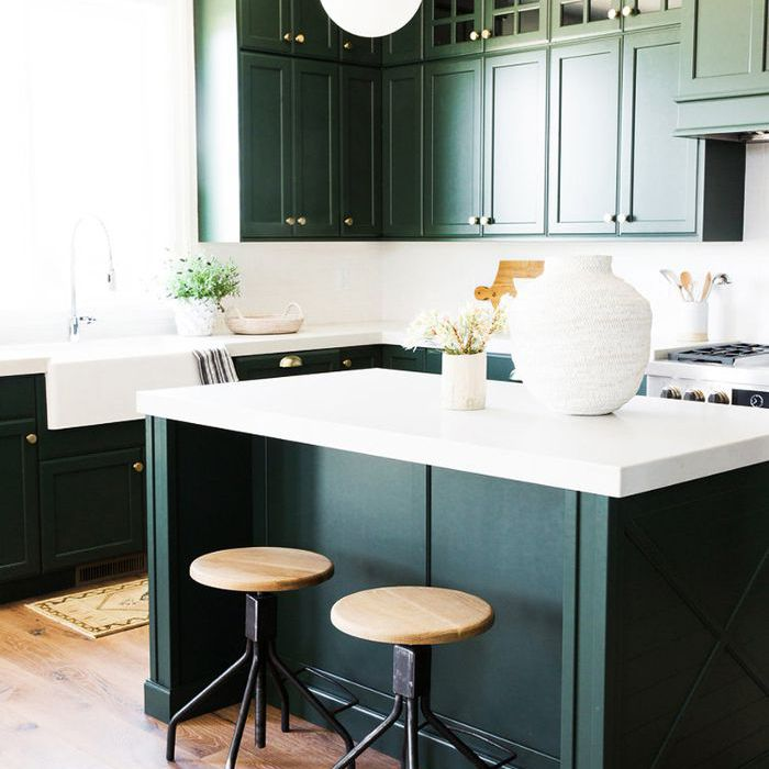 amusing green kitchen paint colors white cabinets | 8 of the Best Kitchen Paint Colors, According to the Pros