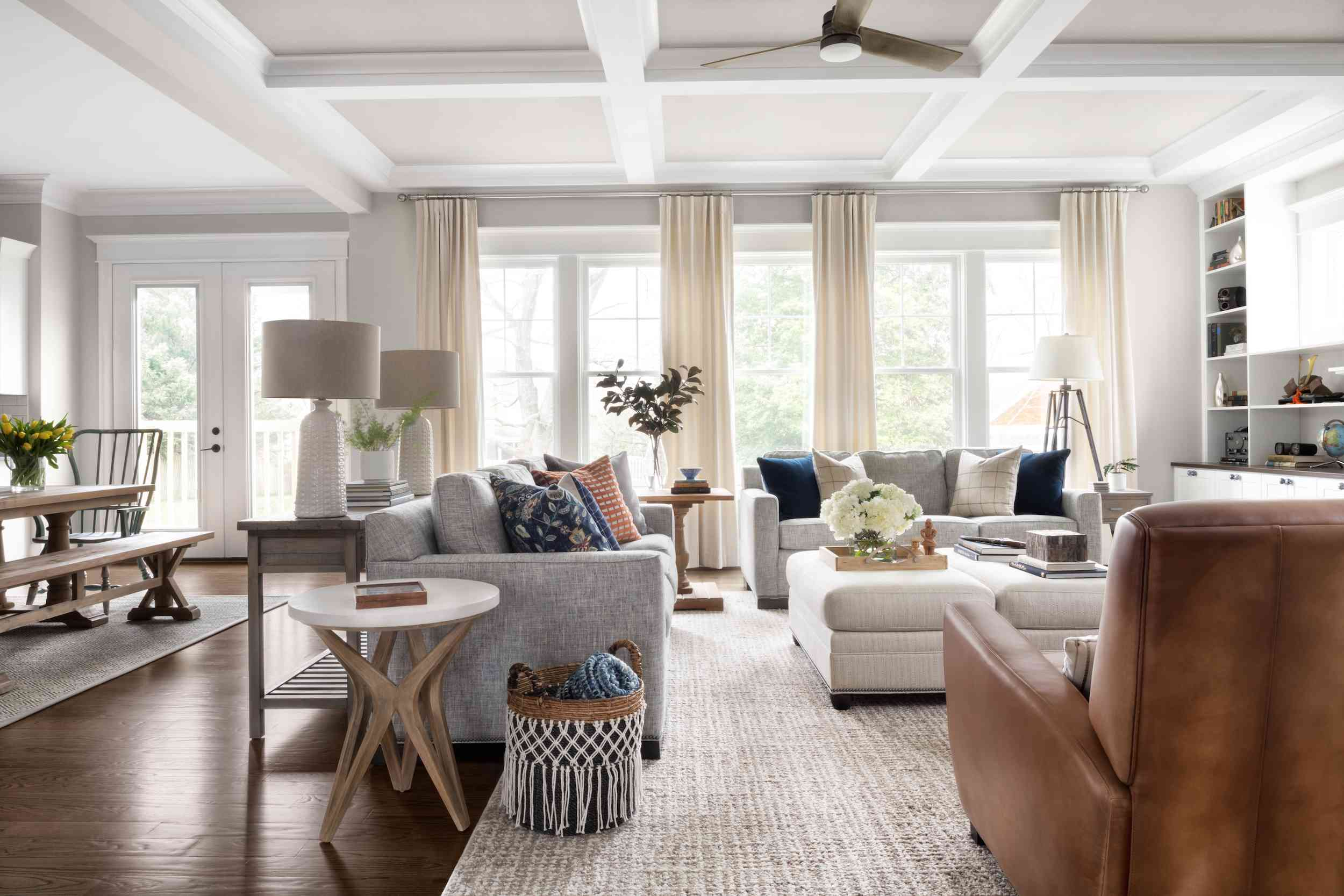 Gray and bright living room