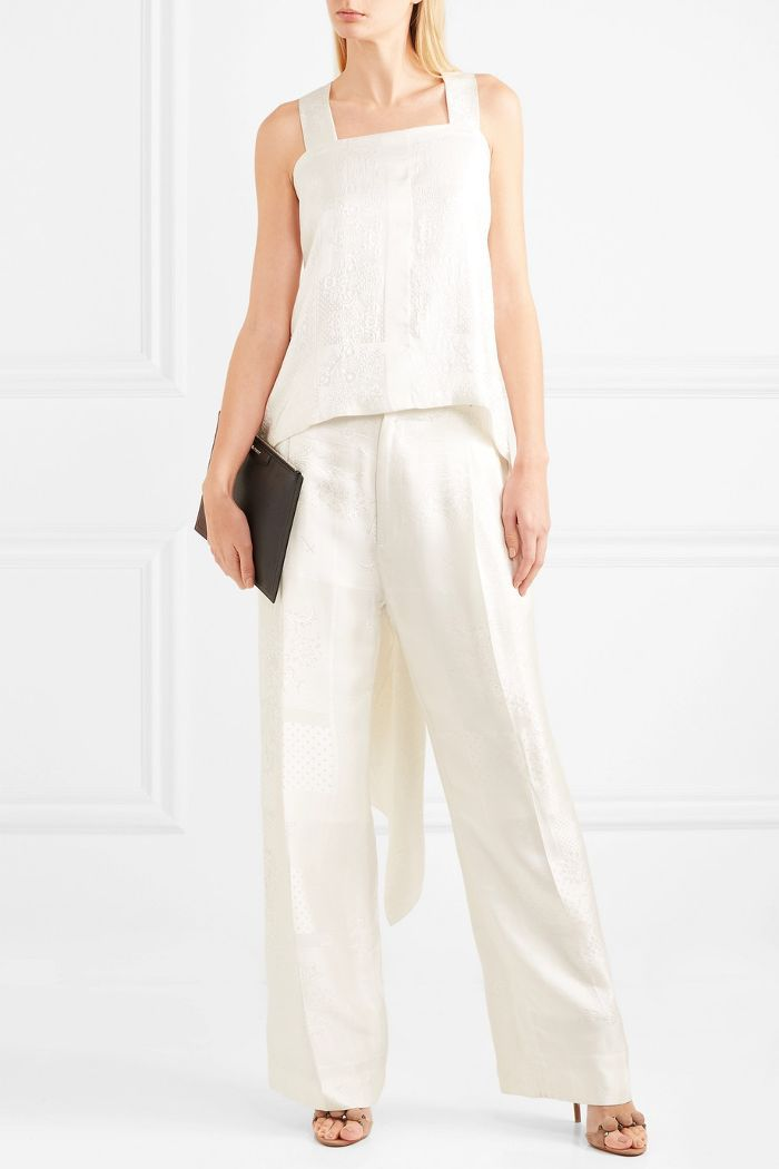 Satin-jacquard Pants
