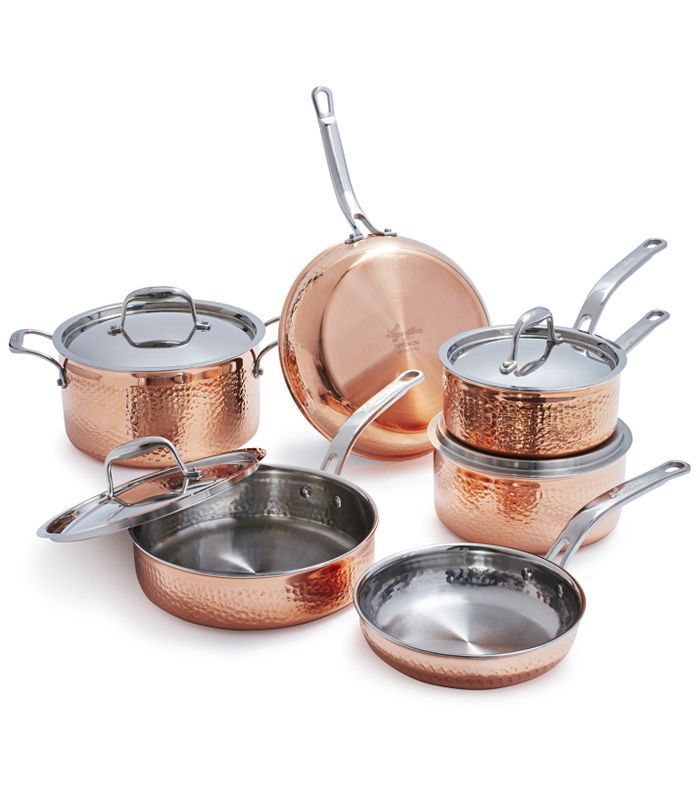 Martellata Hammered Copper 10-Piece Set