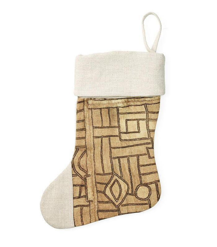 Bloomingville Gray Stripe Christmas Stocking