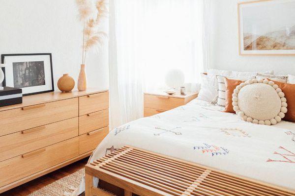 a Cali-Cool bedroom