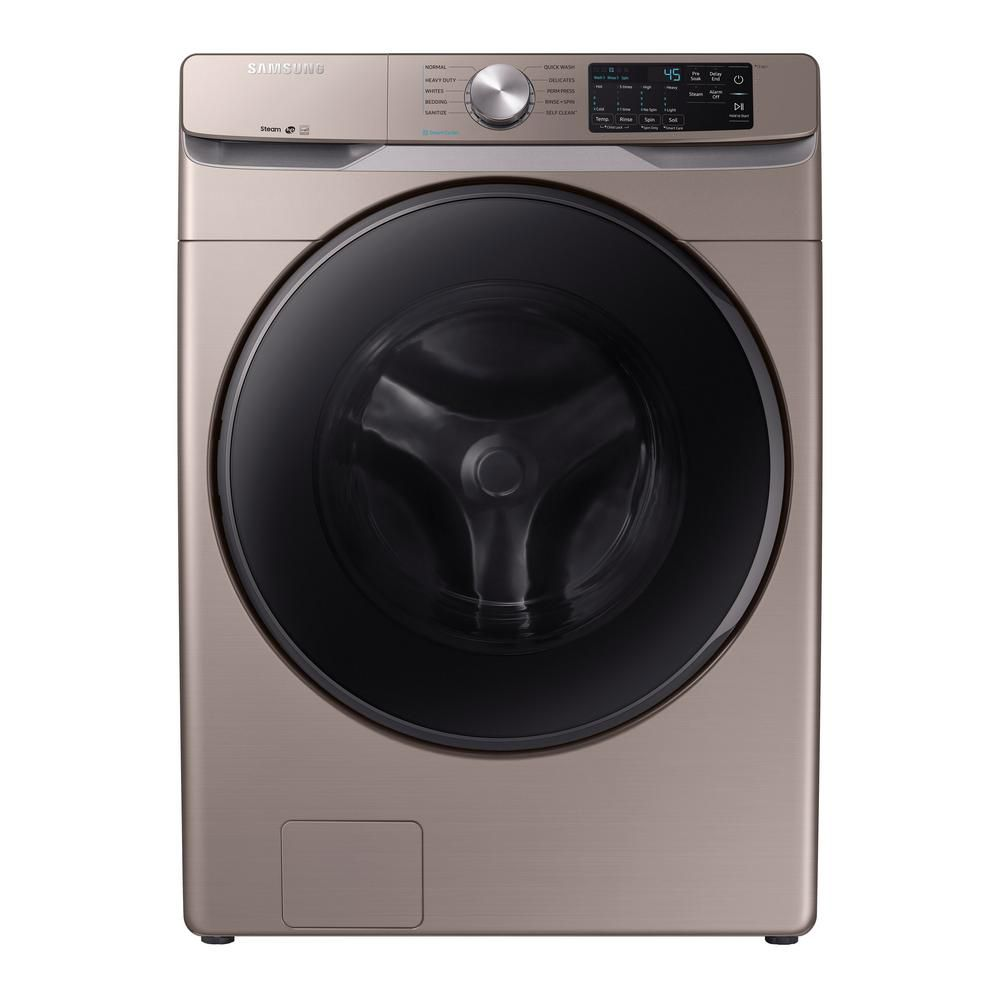 High-Efficiency Champagne Front Load Washing Machine