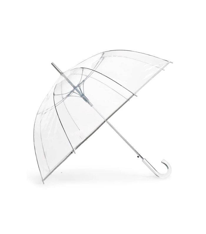 Shedrain Auto Open Stick Clear Dome Umbrella - Metallic