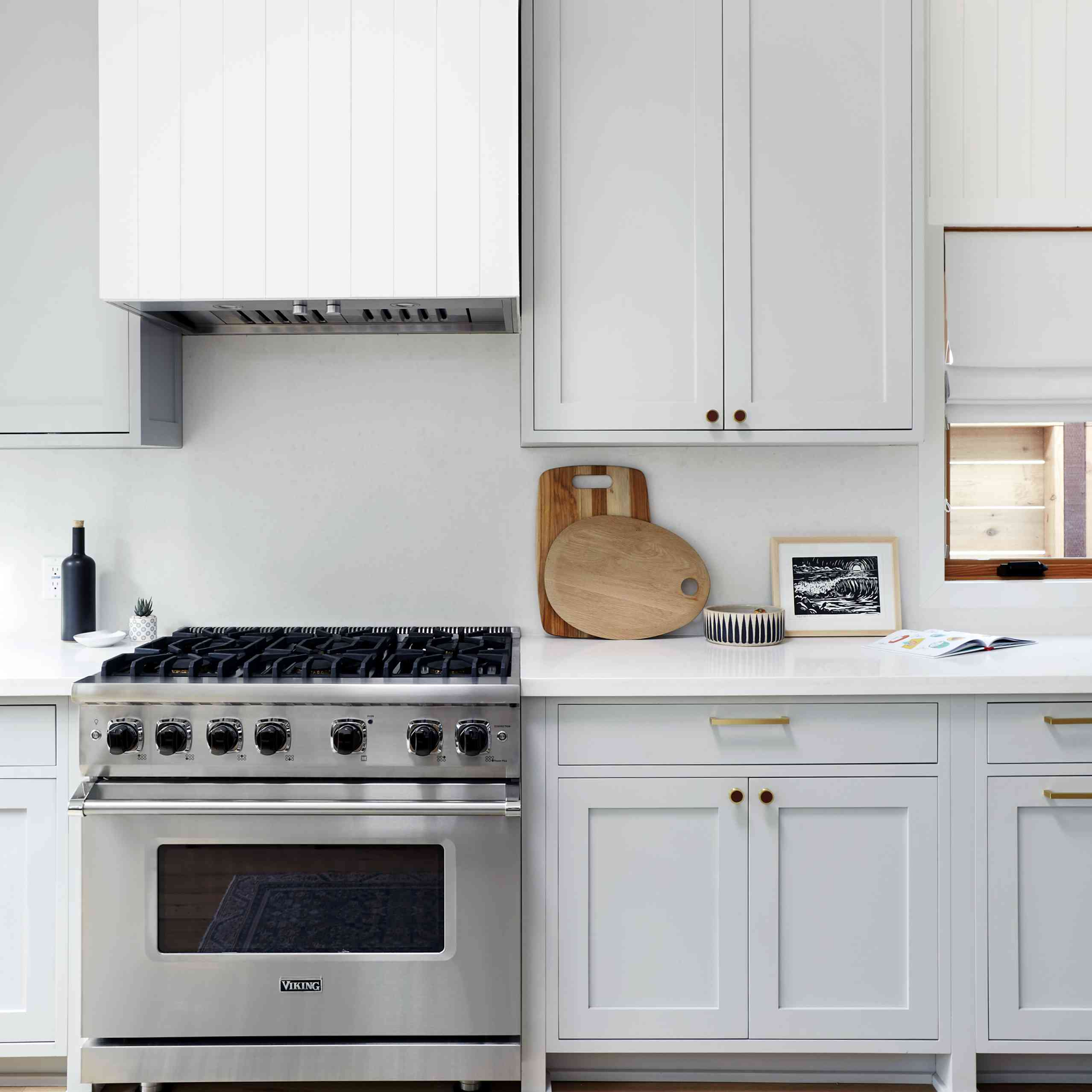 Makeover of the Week - Natalie Myers Kitchen After with light blue cabinets and uppers