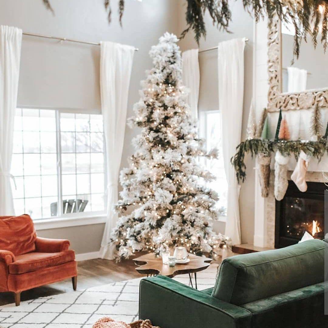 White Christmas tree.