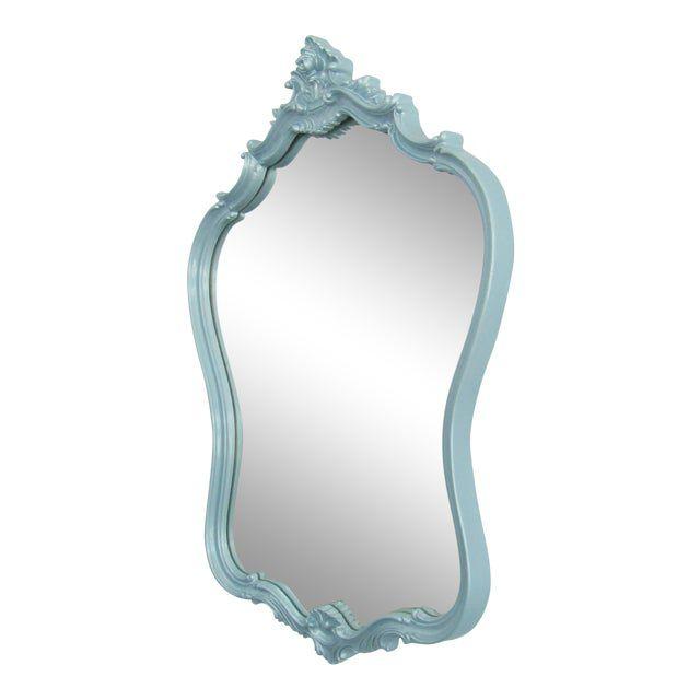 Chairish Hollywood Regency Style Ornate Wood Framed Mirror