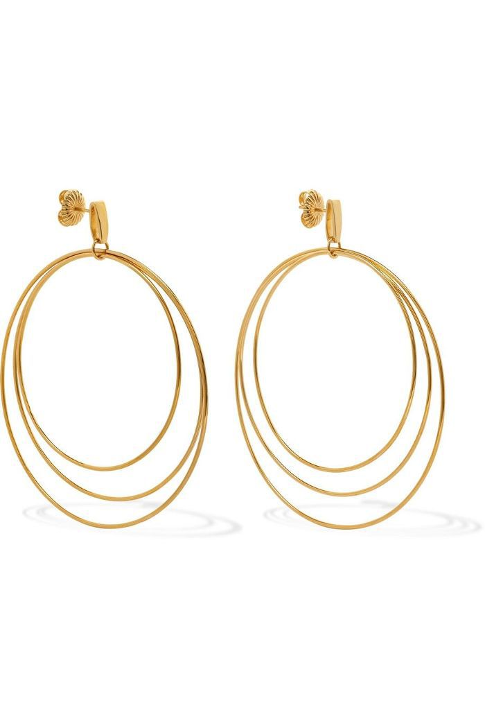 Christy 14-karat Gold-plated Earrings