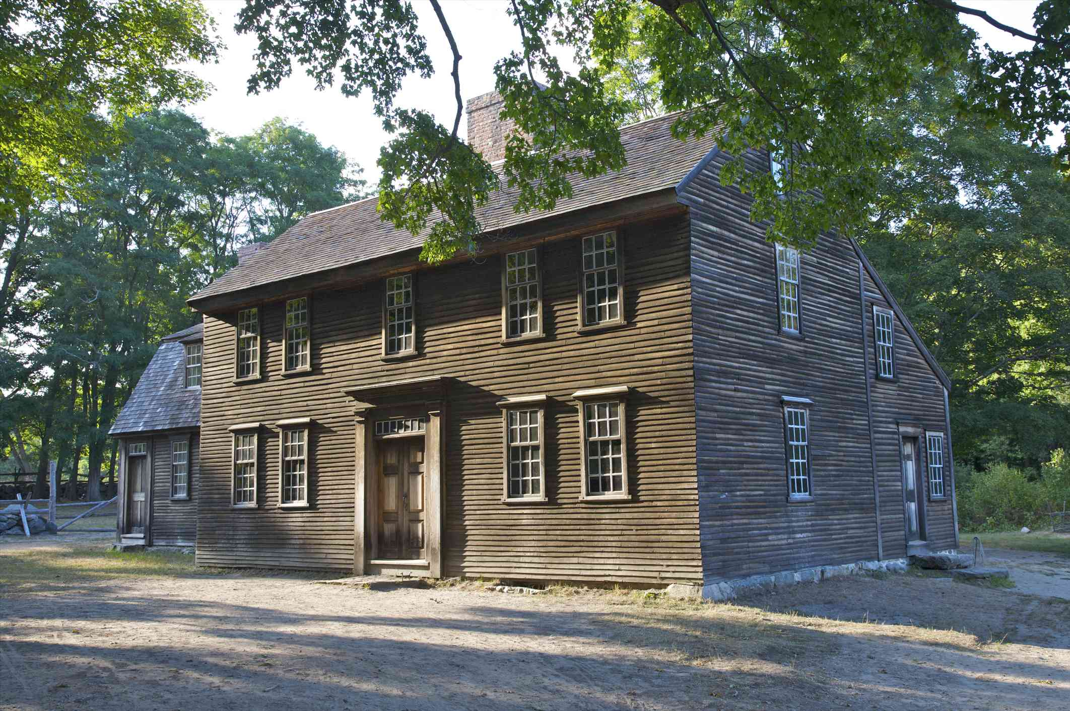 traditional saltbox style home