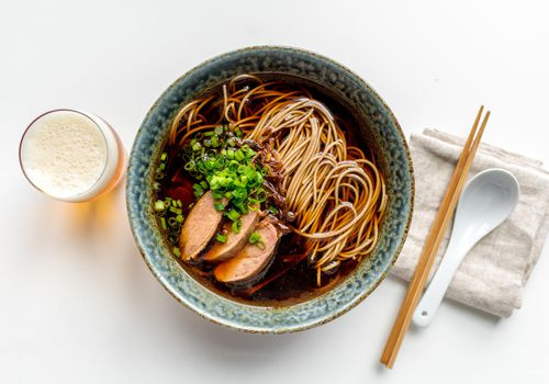 how to store green onions - Japanese Sous-Vide Duck Ramen