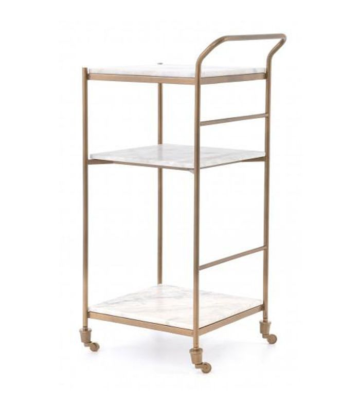 Fillina Bar Cart, Antique Gold