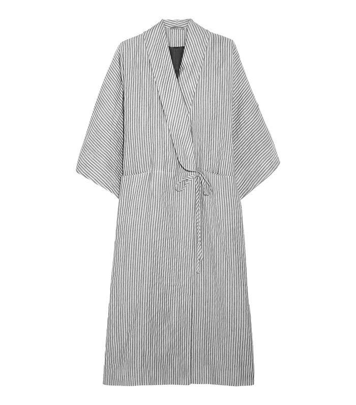 Constance Striped Cotton-Blend Robe