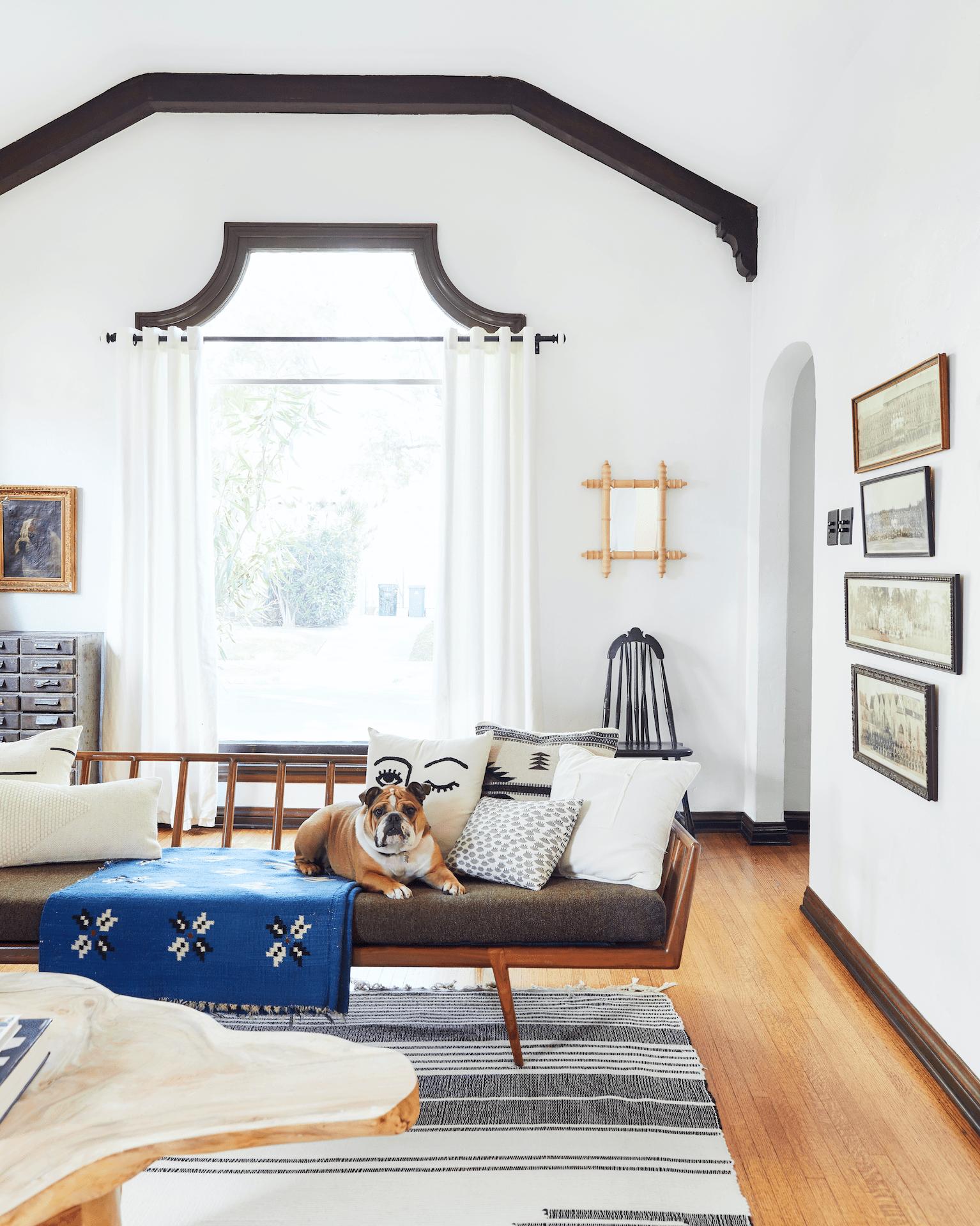 Emily Henderson marketing director Michael Keck's living room