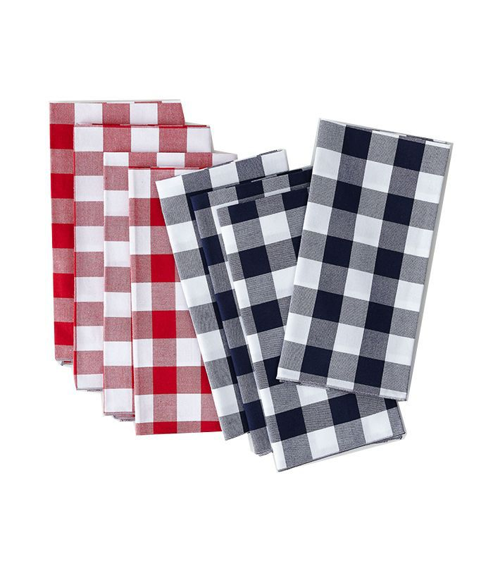 Dot and Army Gingham Cloth Napkins