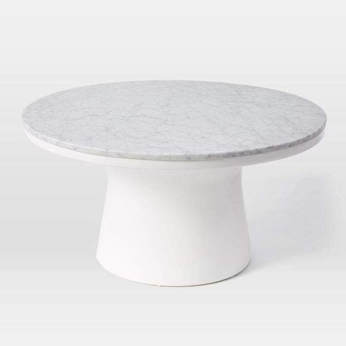 Marble Topped Pedestal Coffee Table (30.5