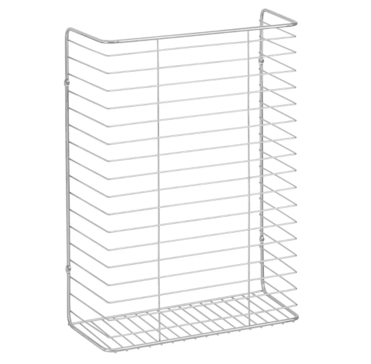 mDesign Metal Wall Mount Kitchen Storage Basket