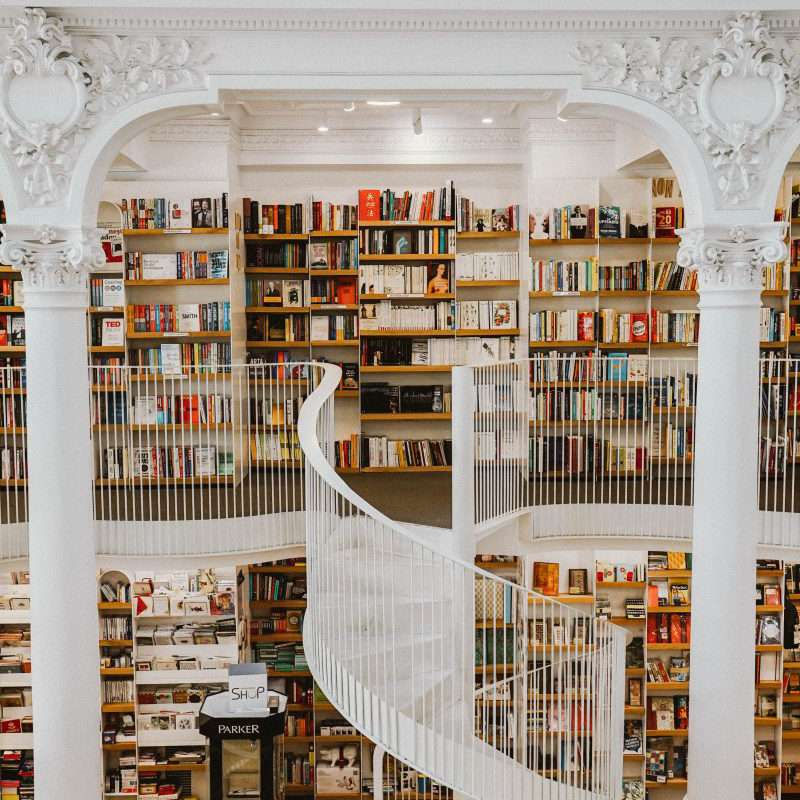 A 3 story bookstore in Romania.