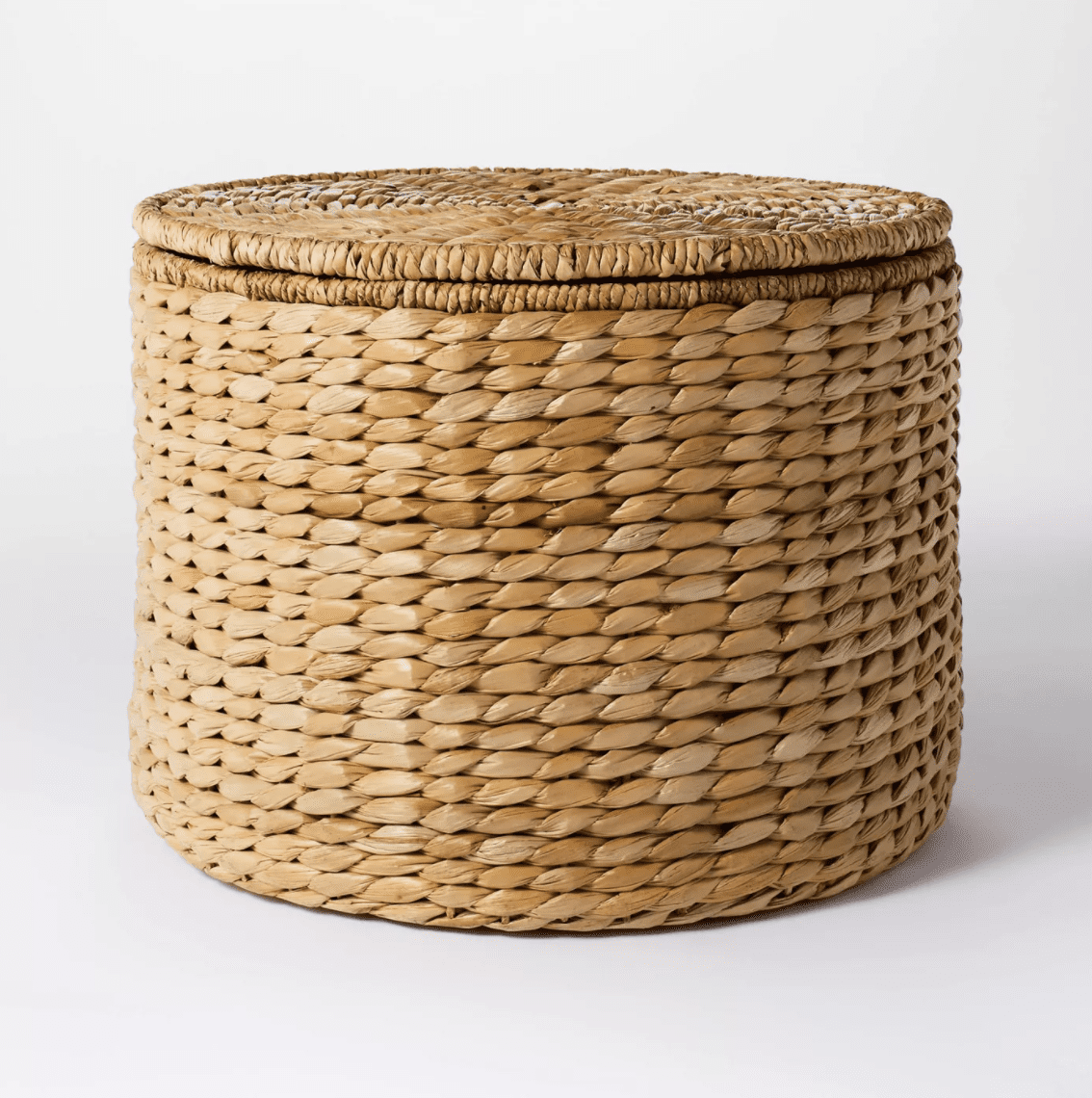 Woven Storage Ottoman Natural