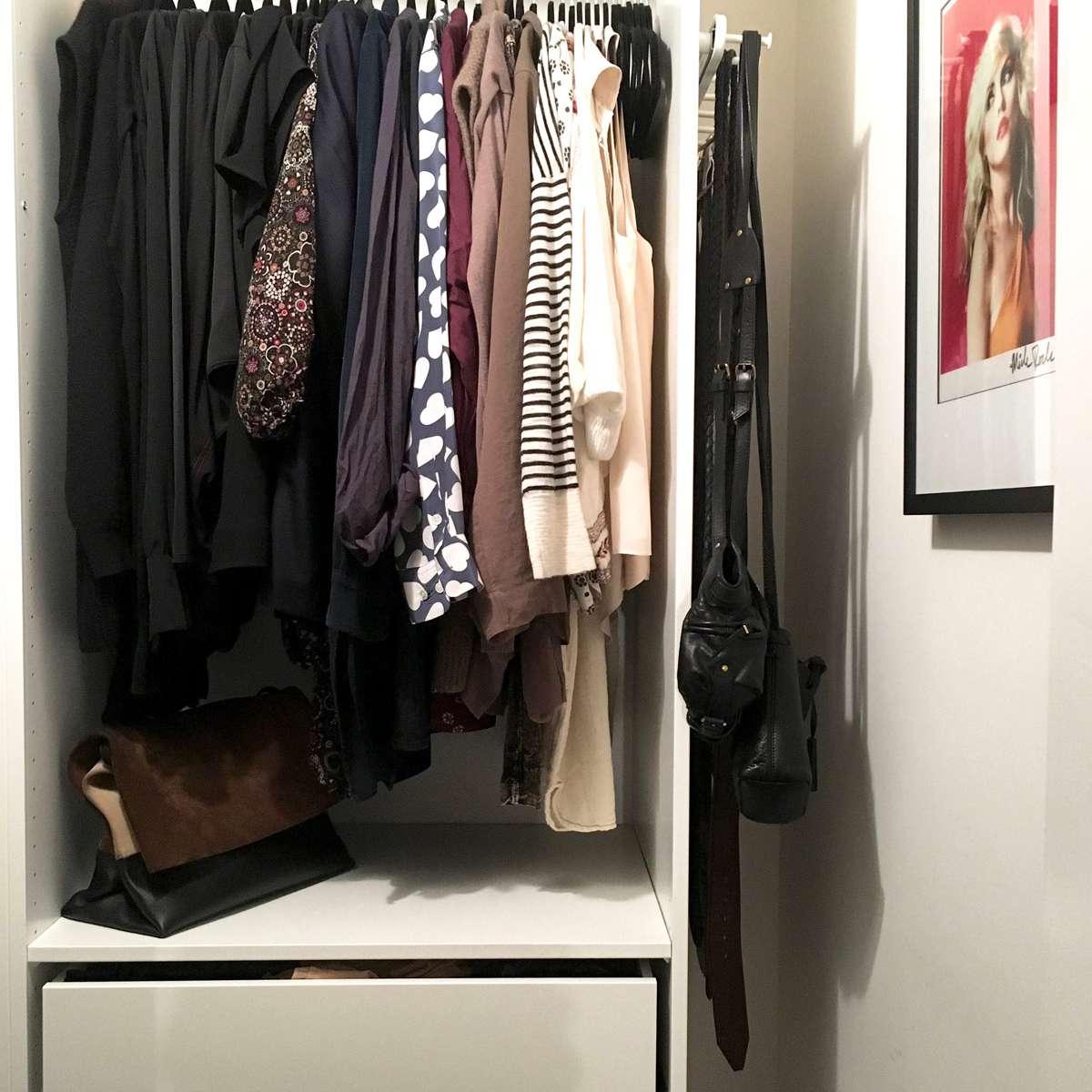 Closet with organization system