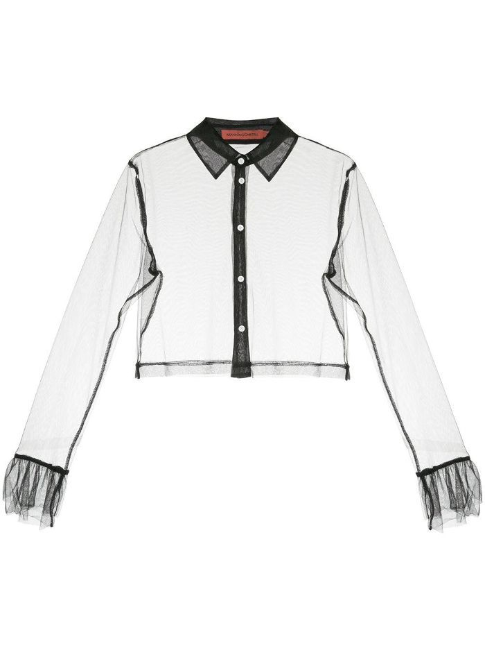 Delight sheer cropped shirt