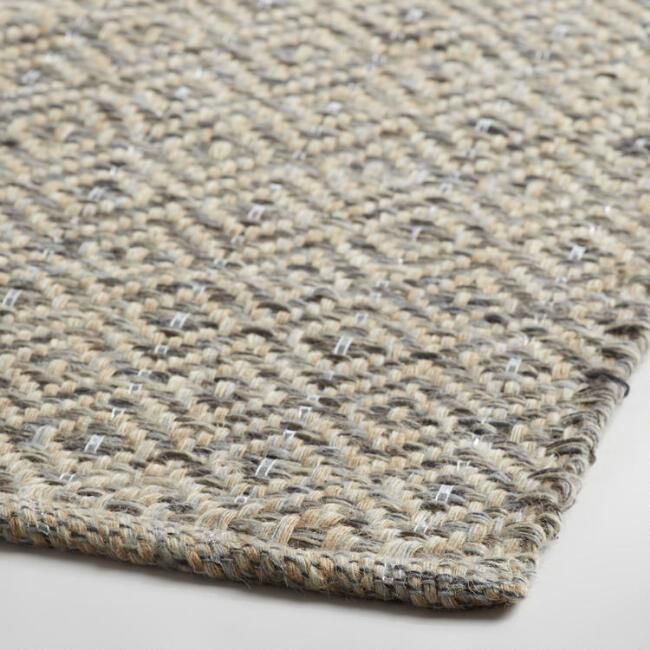 metallic area rug