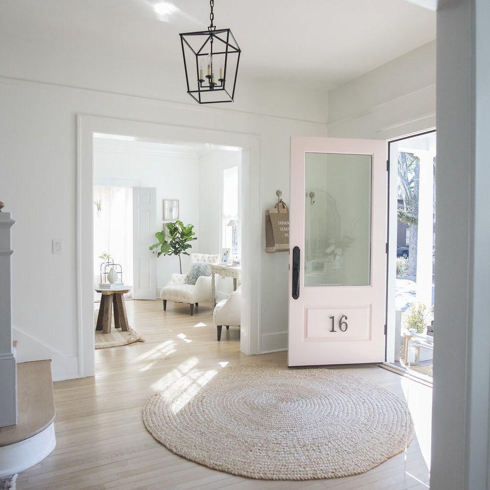 Foyer with a light overhead