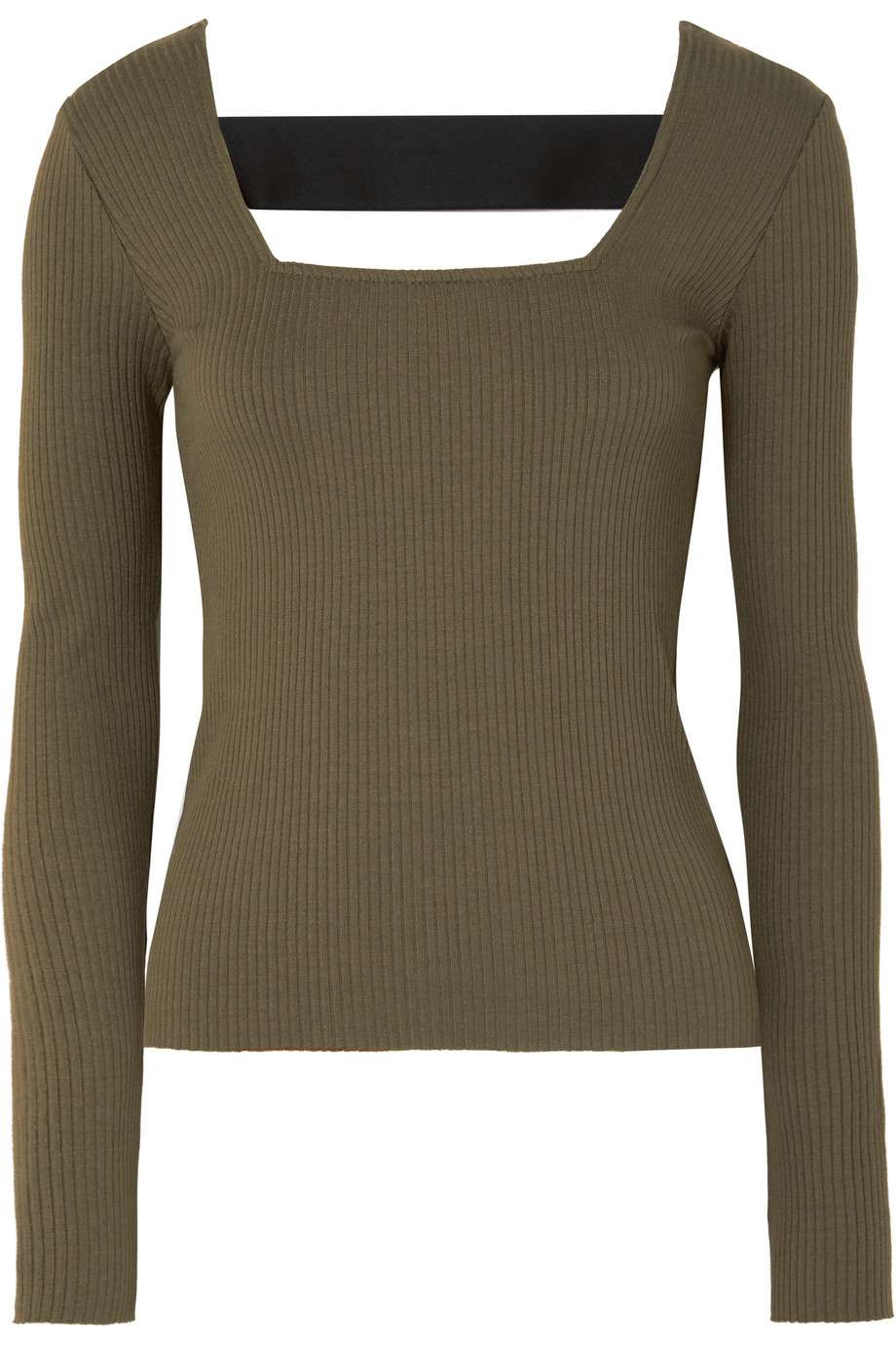 green long sleeve top