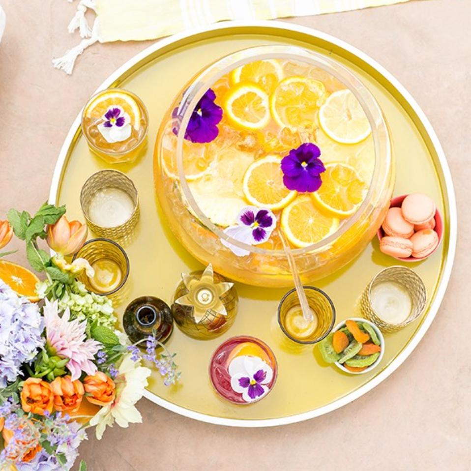 Ponche de piña y naranja para fiesta por el blog de Sugar and Charm