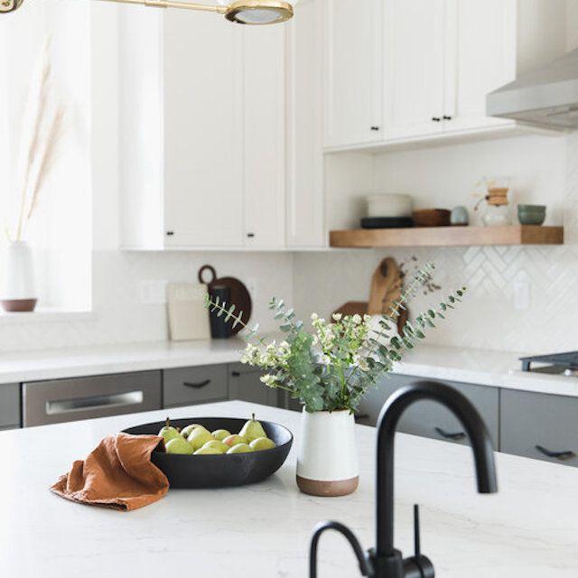 pewter kitchen