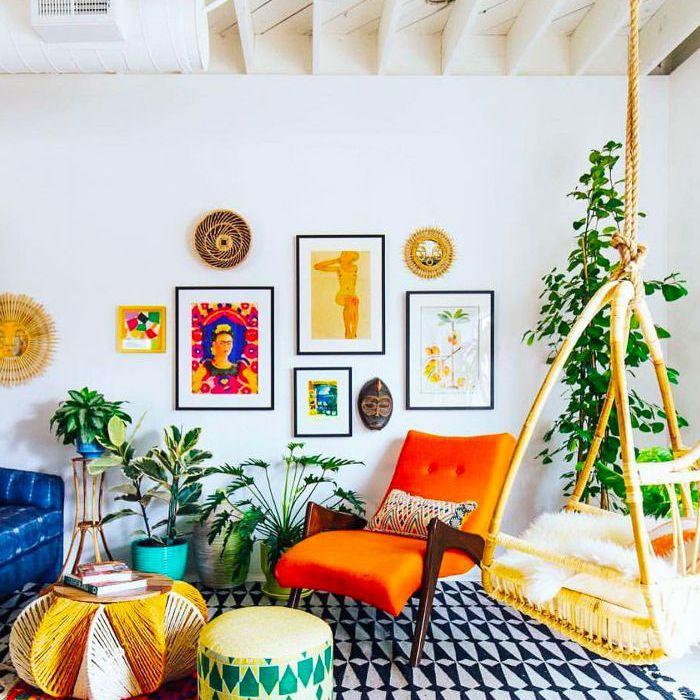 Bohemian décor—greenery