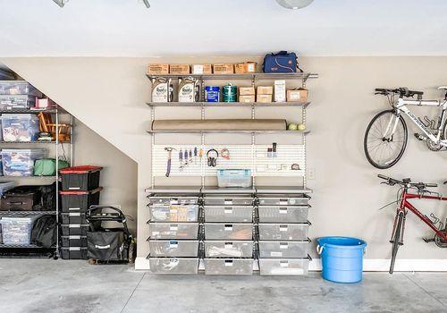 Garage organization with drawers