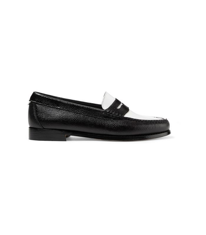 Weejuns The Whitney Patent And Lizard-effect Leather Loafers
