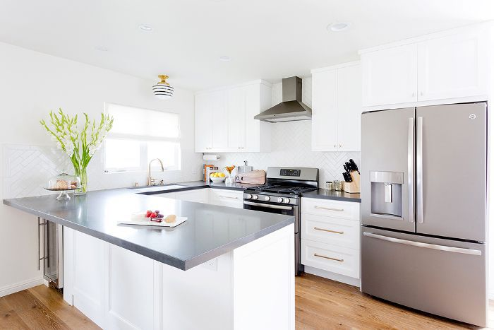 kitchen with large counter