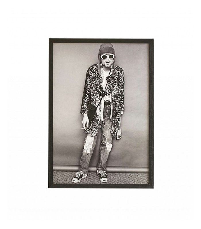 Urban Outfitter Black + White Kurt Cobain Framed Art Print
