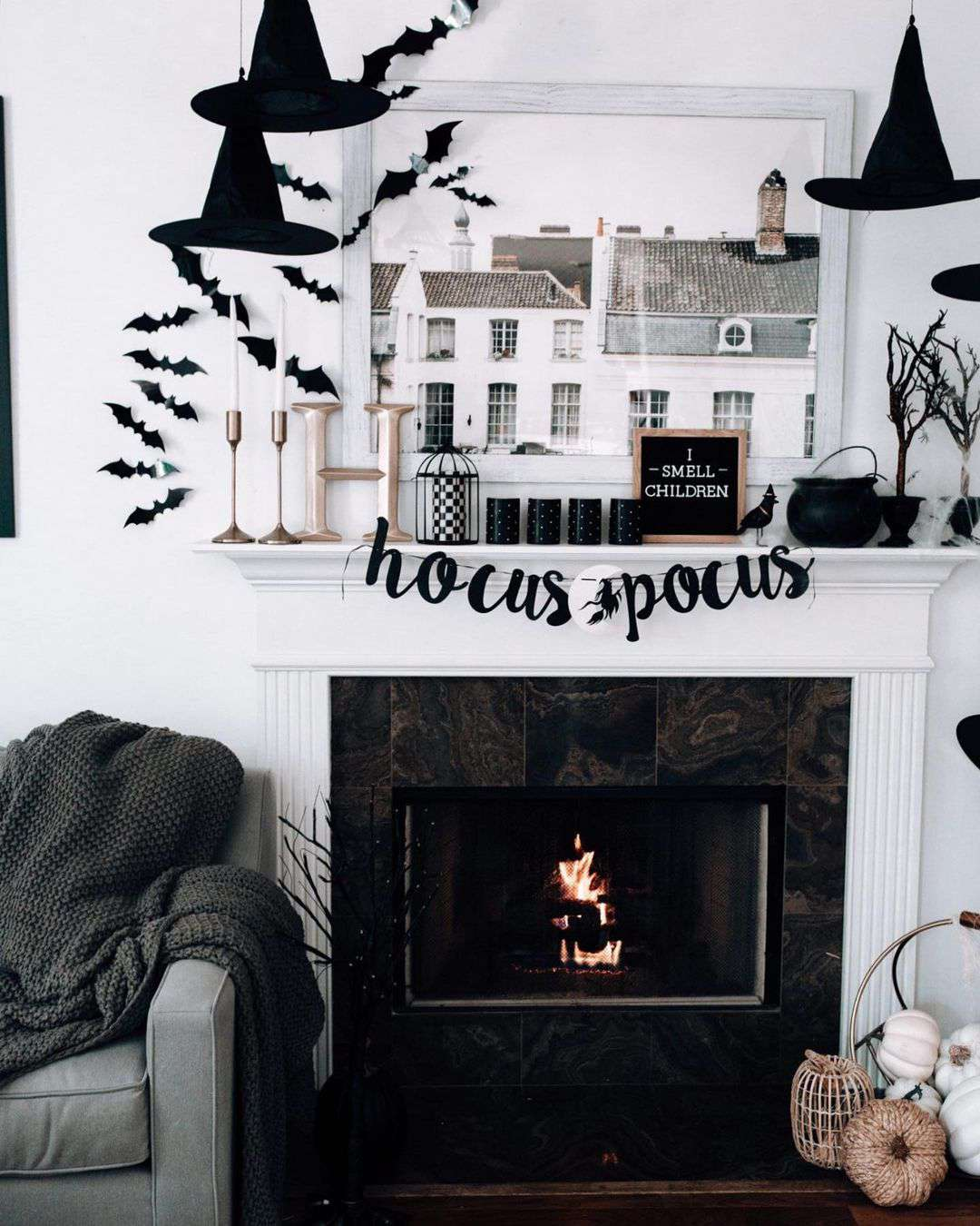 Hocus Pocus themed Halloween decor
