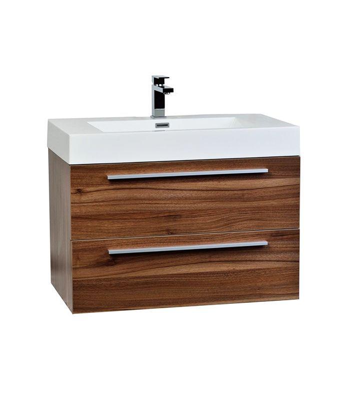 Houzz Wall-Mount Contemporary Bathroom Vanity Set