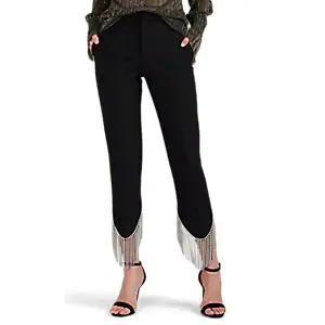 Area Frieda Crystal-Embellished Pants in Black