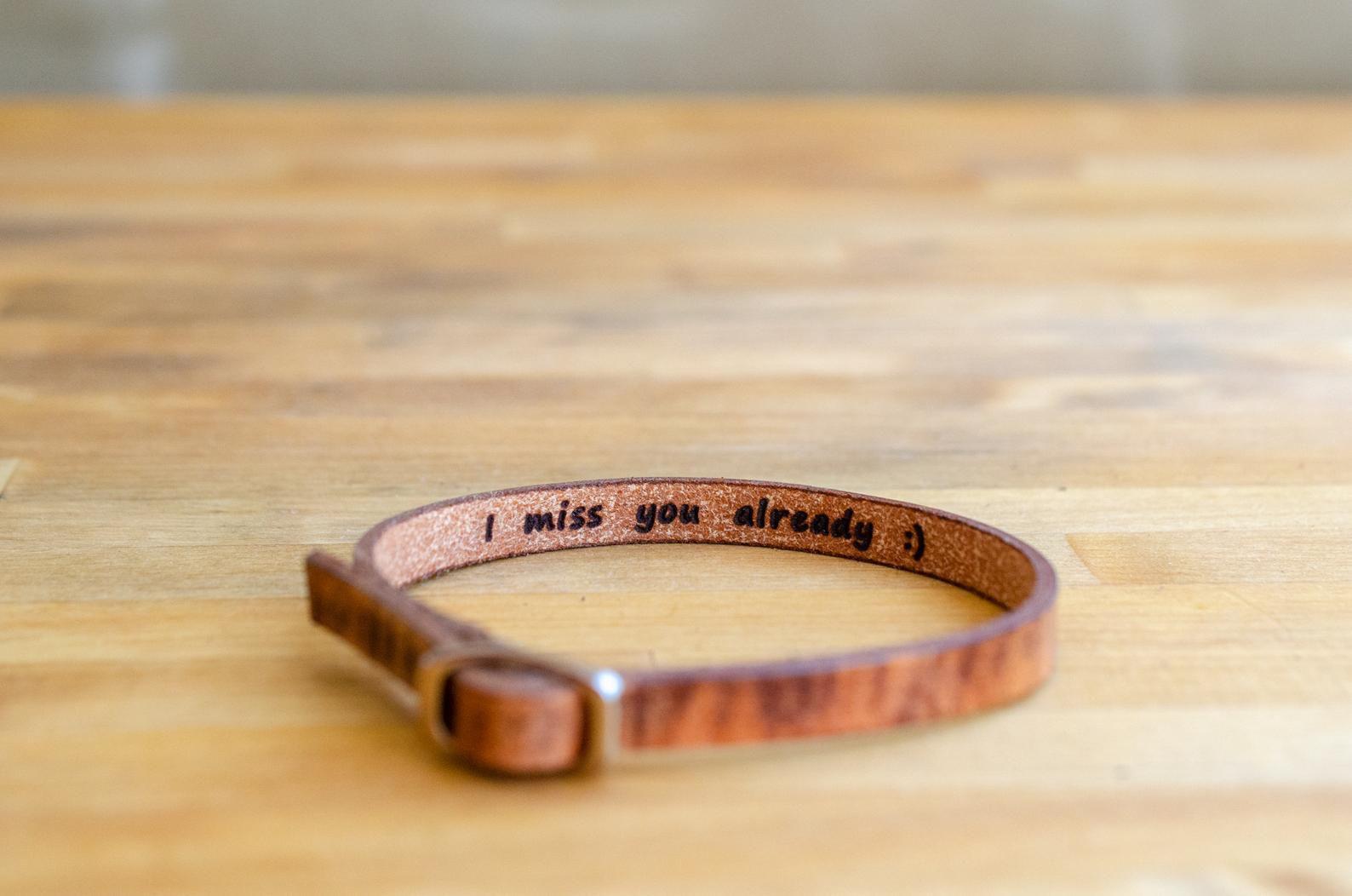 PorterandHazel Secret Message Leather Bracelet