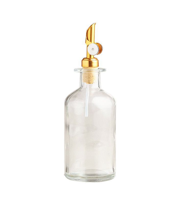 Glass Oil Bottle with Gold Stopper by World Market
