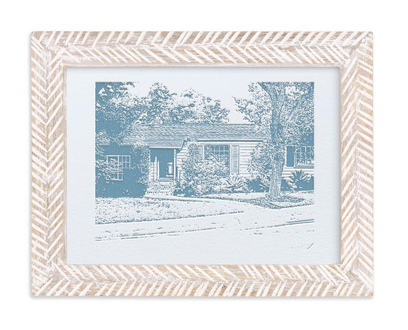 Custom House Letterpress Portrait Art