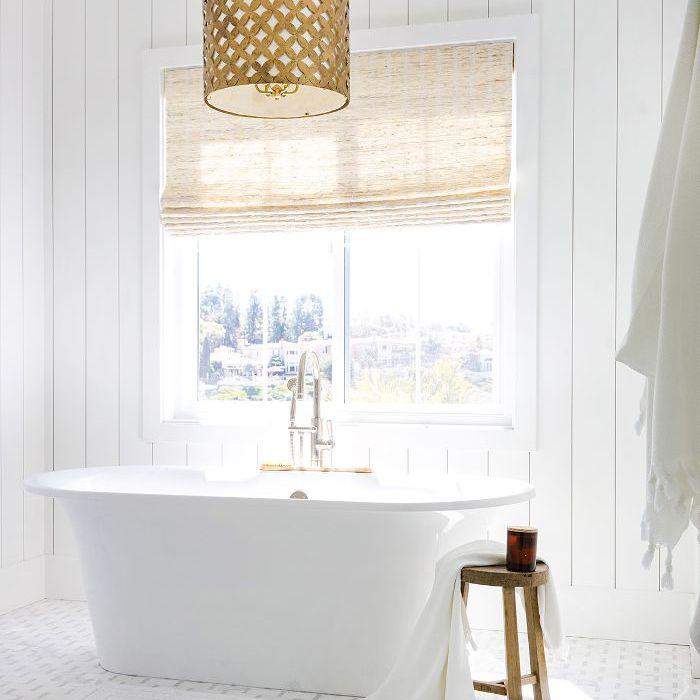 Stunning all-white bathroom
