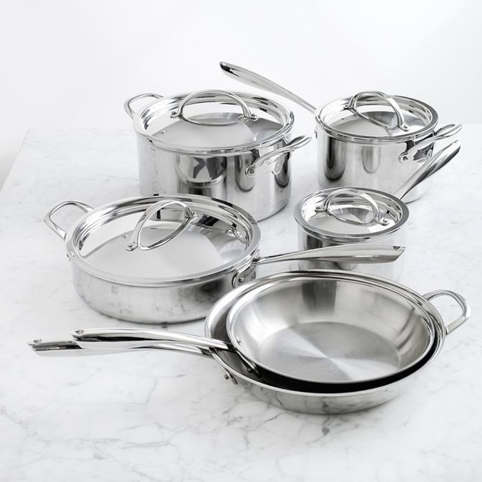 Williams-Sonoma Thermo-Clad(TM) Stainless-Steel 10-Piece Cookware Set