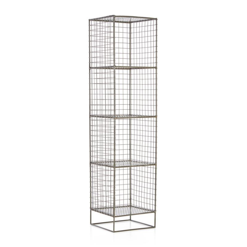 On the Grid Graphite 4-Cube Bookcase