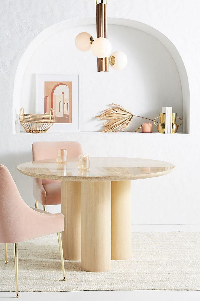 Anthropologie Anya Travertine Dining Table