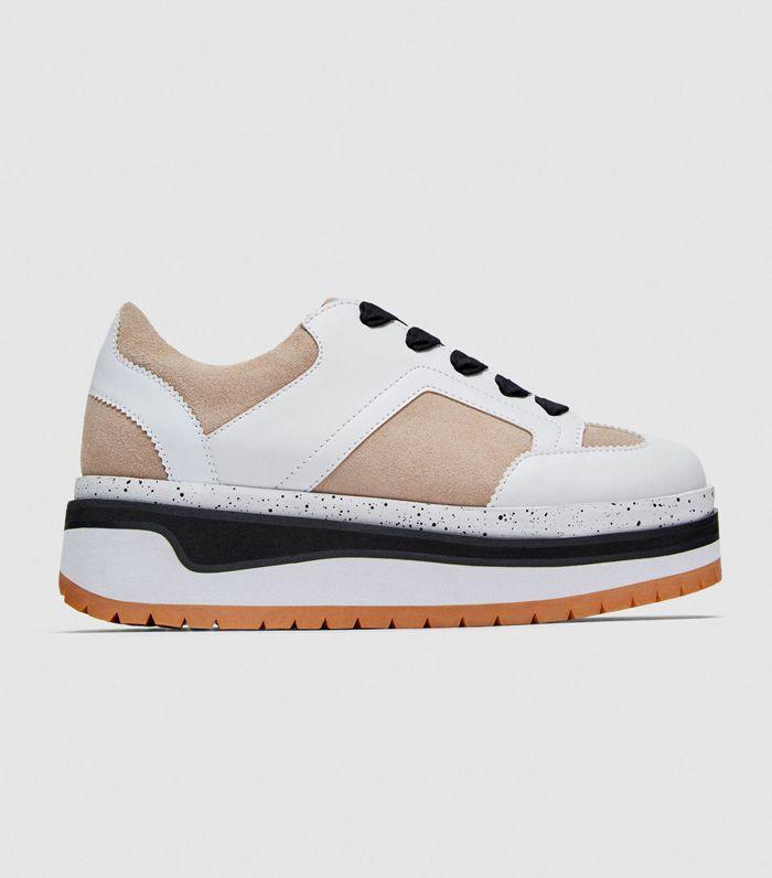 Zara Contrasting Platform Sneakers