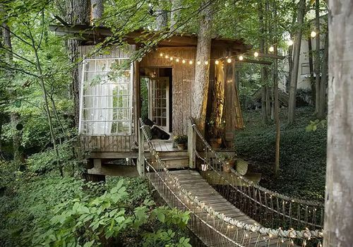 a treehouse you can rent on on Airbnb