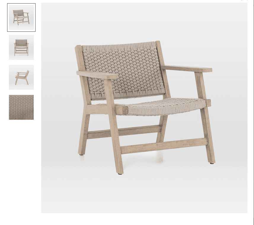 Teak Wood and Rope Chair