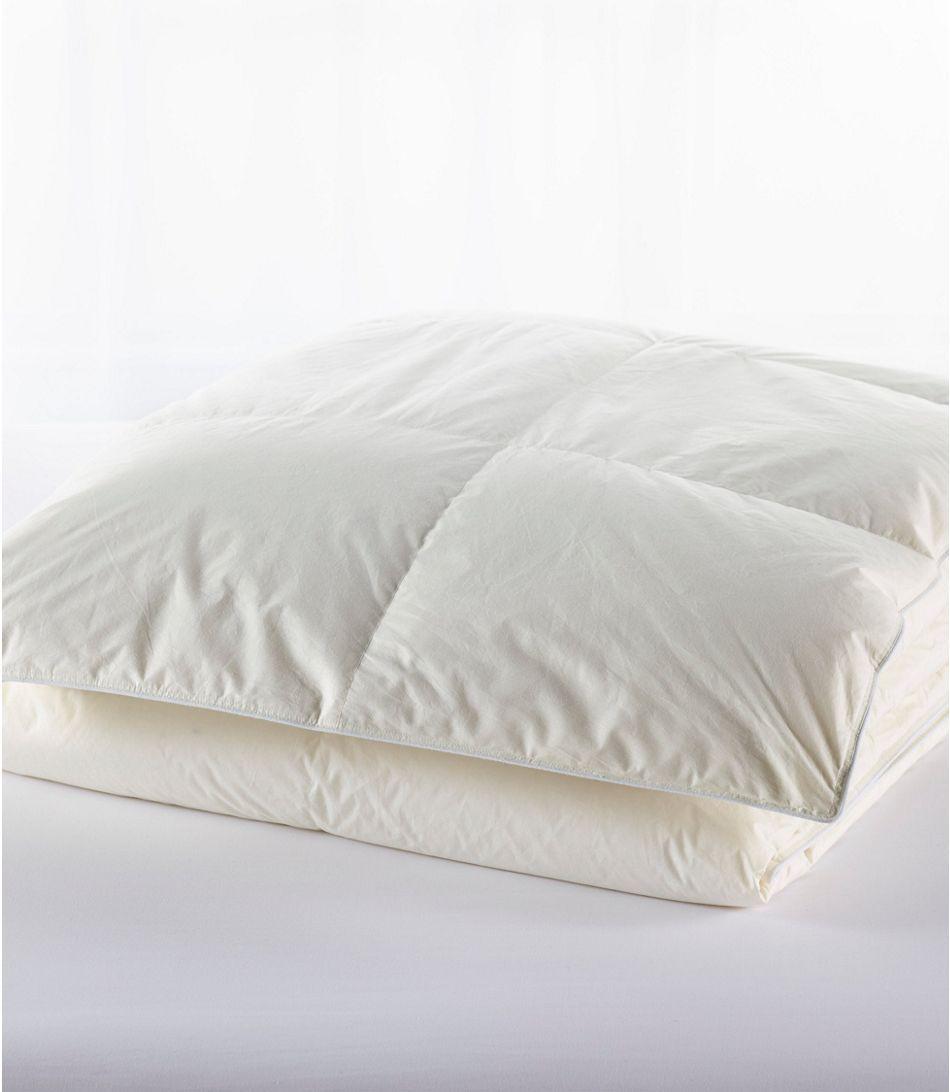 L.L. Bean Baffle-Box Stitch Goose Down Comforter, Warmer